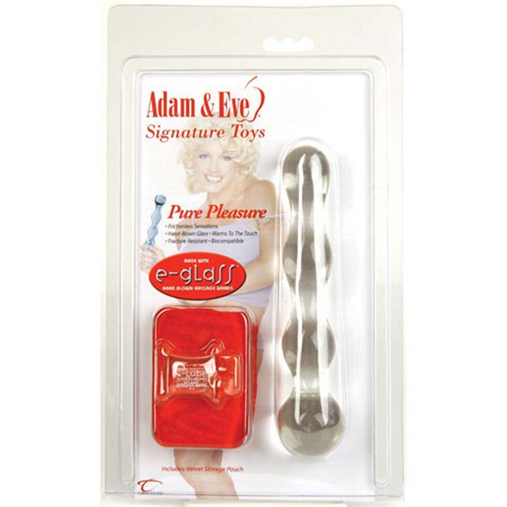 Adam and Eve Pure Pleasure Glass Dildo with Storage Bag 7 In - View #3