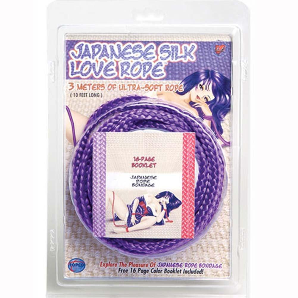 Japanese Silk Love Rope 10 Ft Purple - View #1