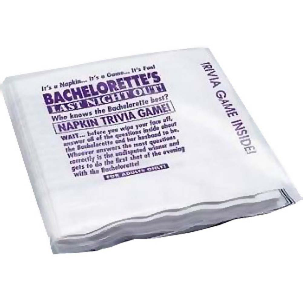 Bachelorette Party Favors Trivia Game Napkins 25 Pcs Pack - View #1