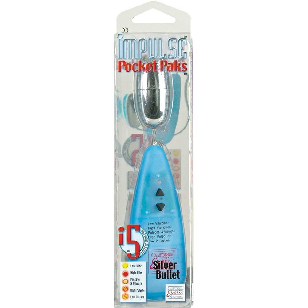 "Impulse Pocket Paks Vibrating Silver Bullet 2.25"" RbDV - View #4"