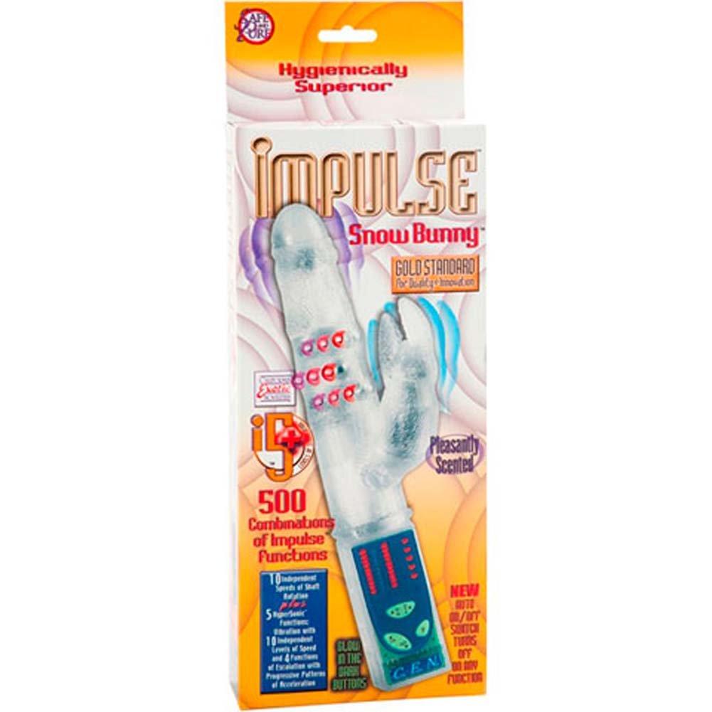 "Silicone Impulse Snow Bunny Female Intimate Vibrator 7"" Clear - View #3"