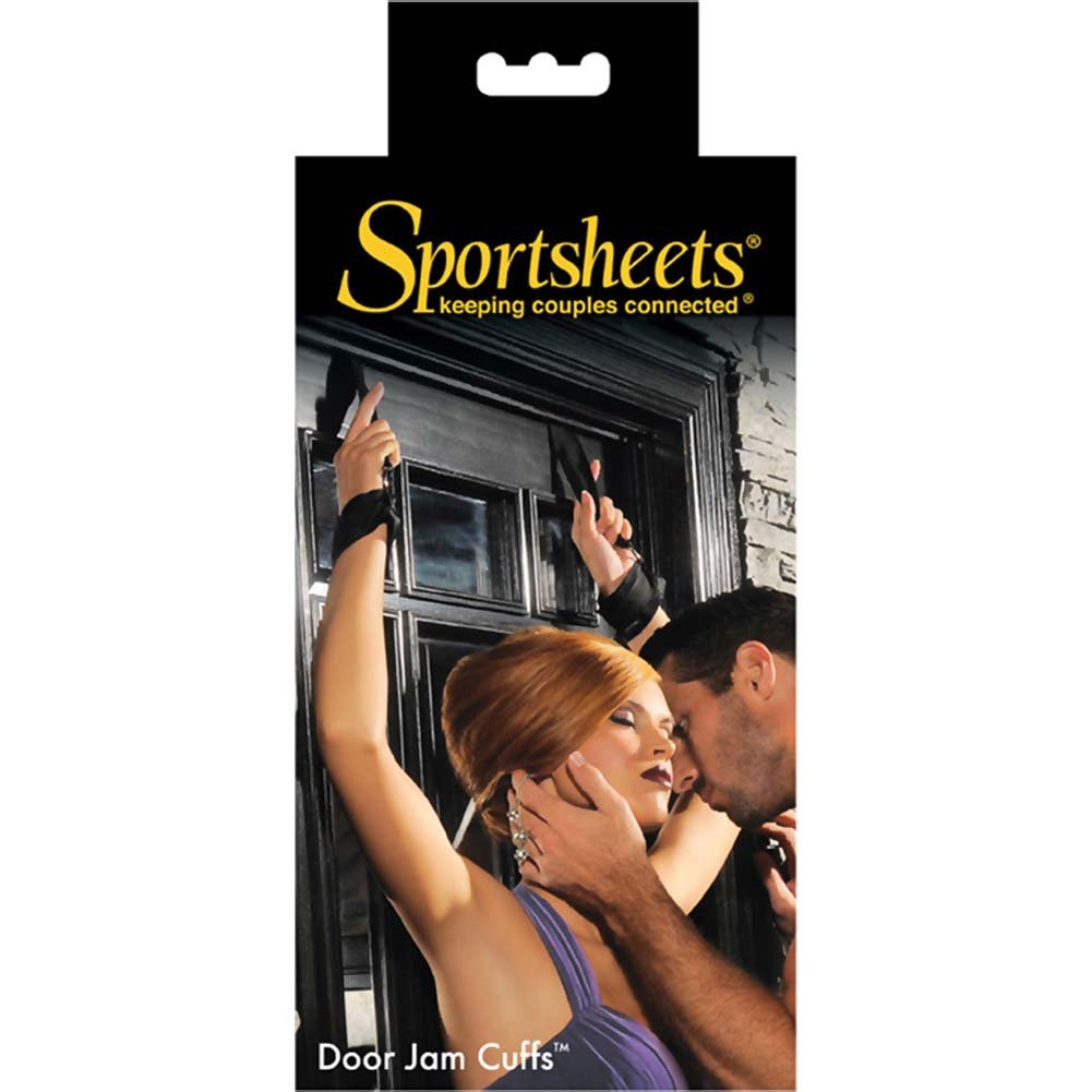 Sportsheets Door Jam Cuffs One Pair Kinky Black - View #4