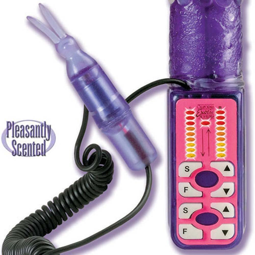 Erotic Ecstasy Flickering Bunny Jelly Vibe 7 In. - View #4