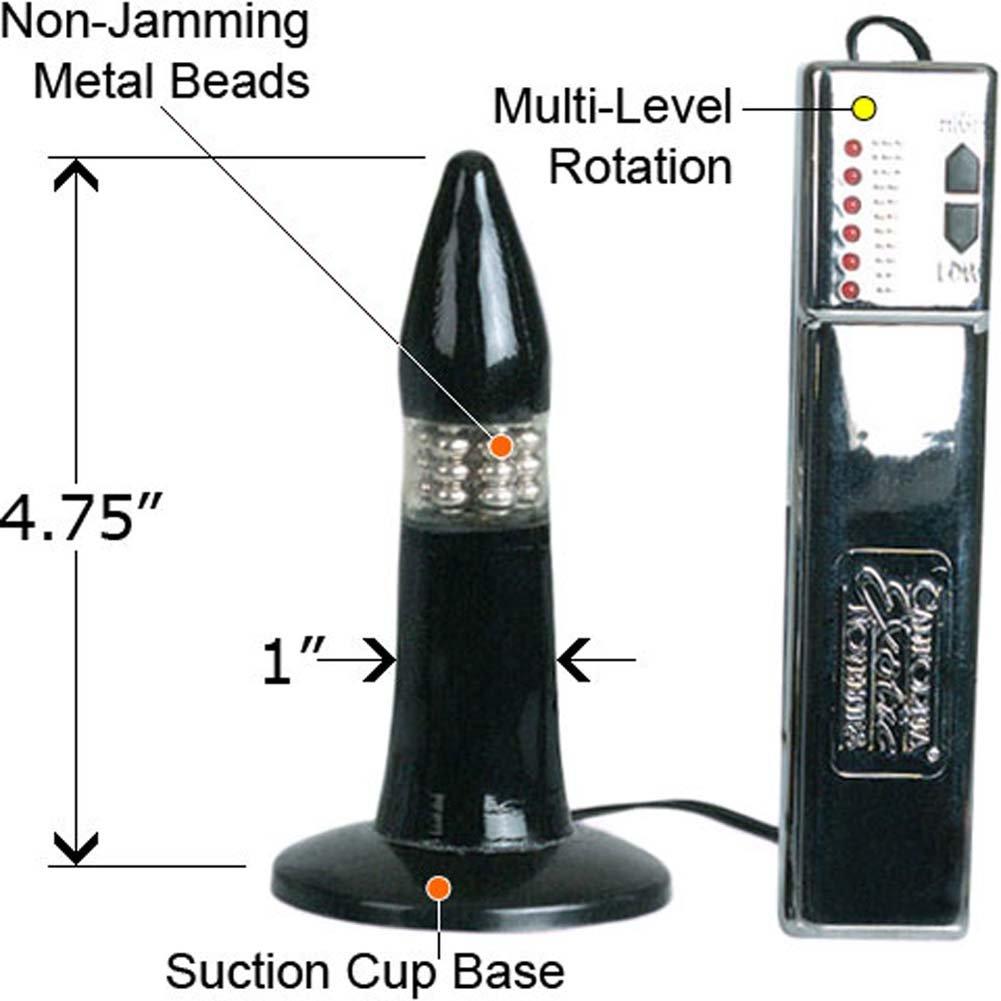 "6 Speed Back Door Rotator Vibrating Butt Plug 4.75"" - View #1"