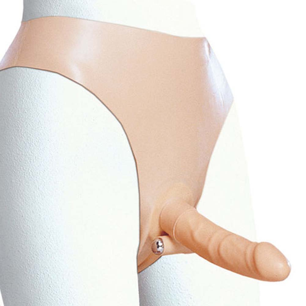 """Shanes World Latex Harness with 6"""" Slender Penis - View #1"""