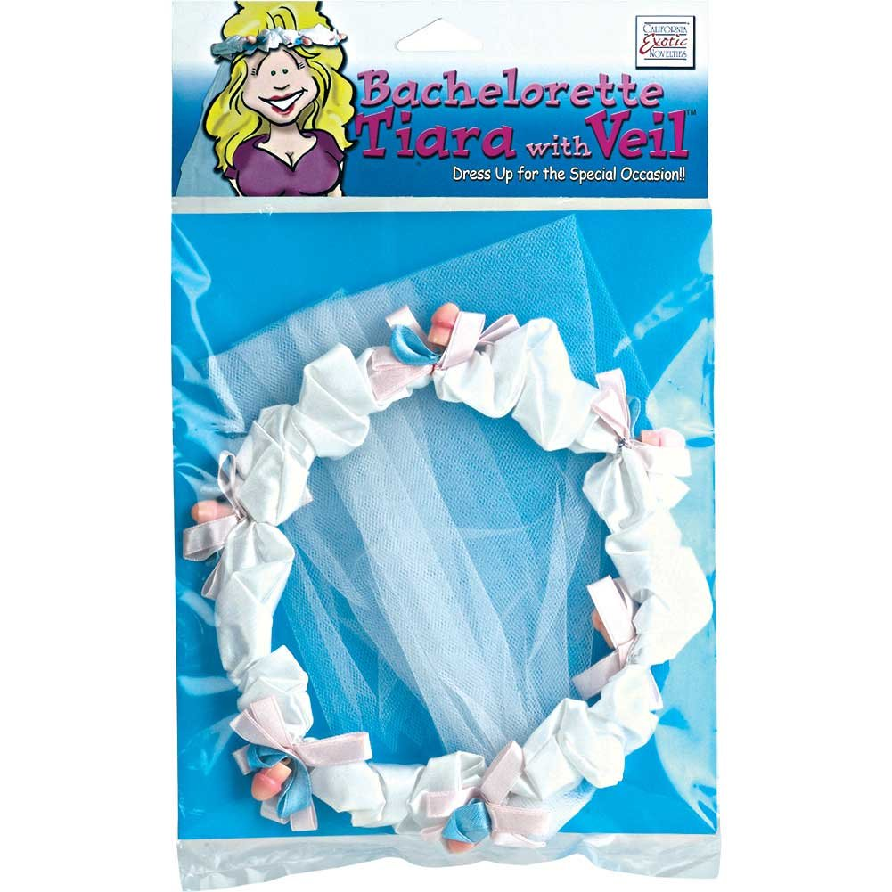 Bachelorette Party Tiara with Veil - View #1