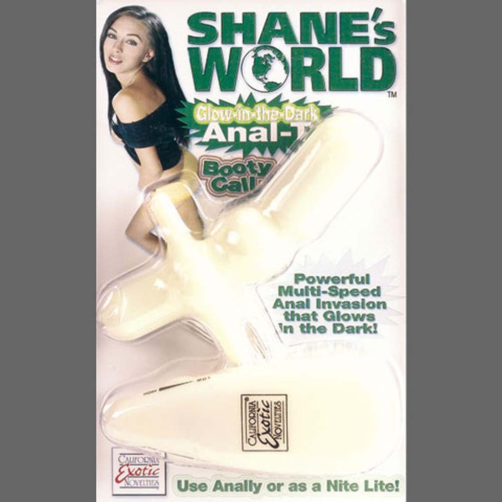 "Shanes World Glow in the Dark Vibro Anal T Probe 3.25"" - View #4"
