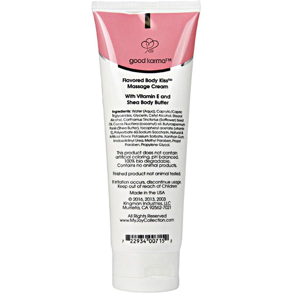 Body Kiss Flavored Massage Cream 4 Fl.Oz 118 mL Strawberry - View #1