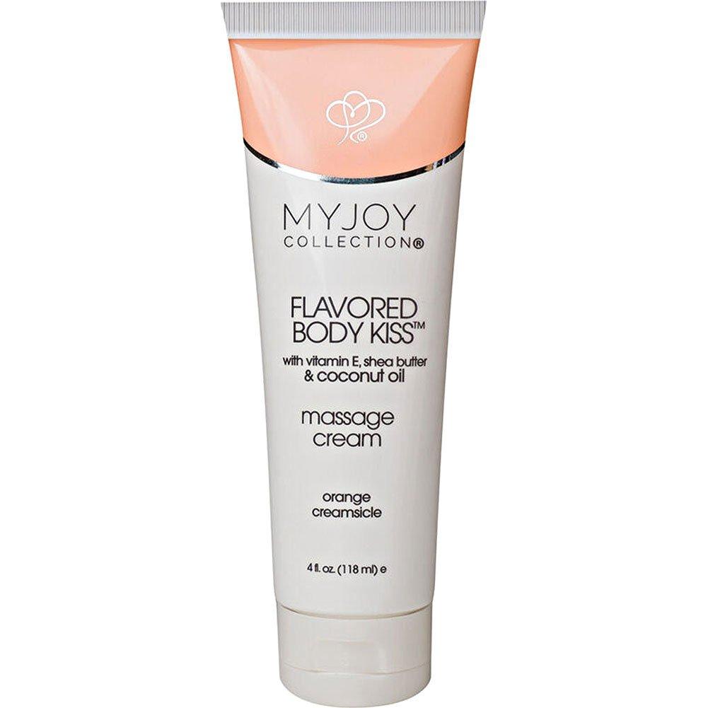 Body Kiss Flavored Massage Cream 4 Fl. Oz Orange Creamsicle - View #1