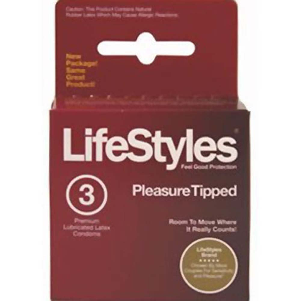 LifeStyles Pleasure Tipped 3 Condoms Pack - View #1