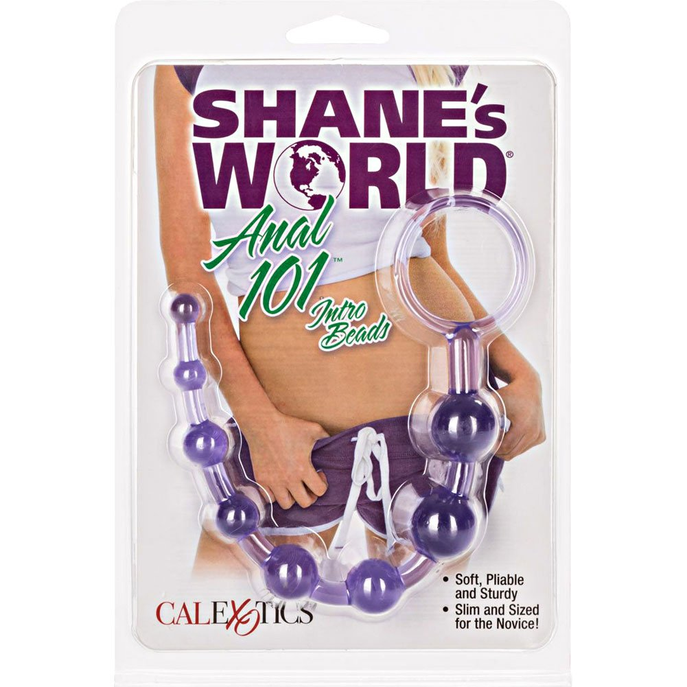 "ShaneS World Anal 101 Intro Jelly Beads 8"" Purple - View #4"