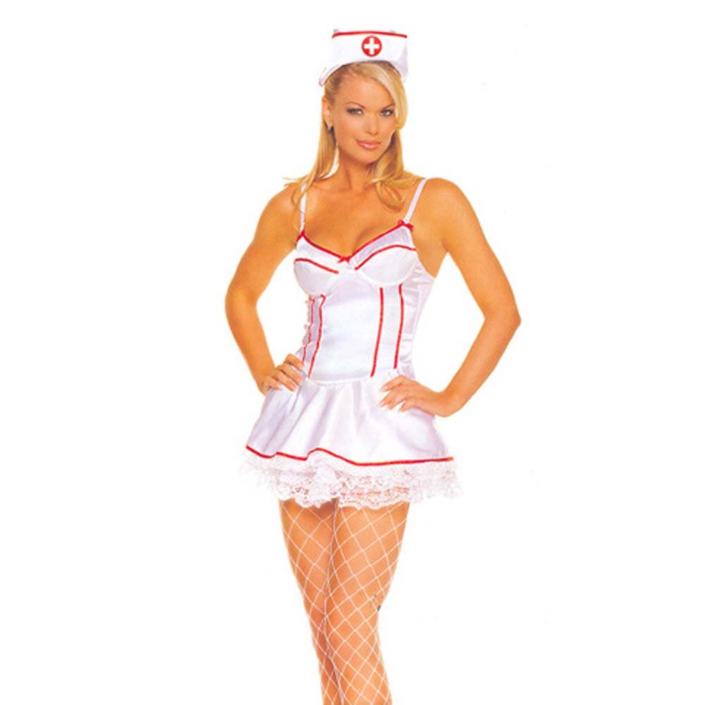 Satin Underwired Nurse Outfit 2Pc. - View #2