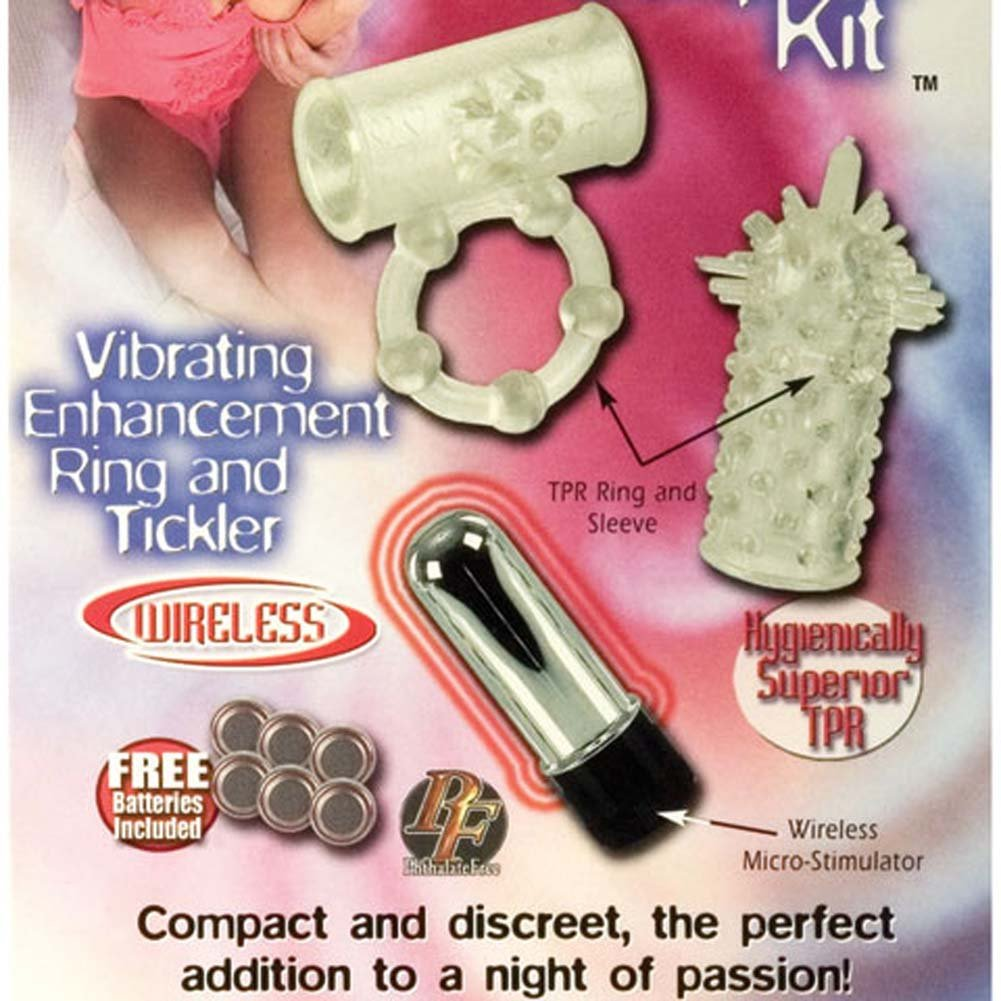 California Exotics Pleasure Duo Cordless Couples Kit with Vibrating Ring Clear - View #1