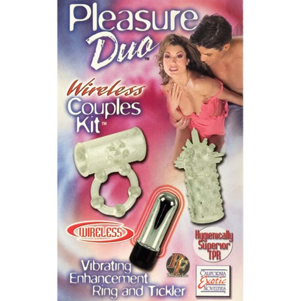 California Exotics Pleasure Duo Cordless Couples Kit with Vibrating Ring Clear - View #3