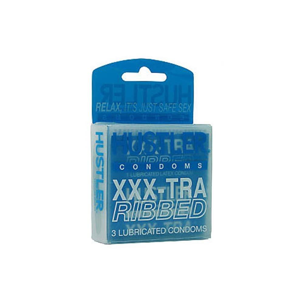 Hustler XXXTRA Ribbed Condoms - View #1
