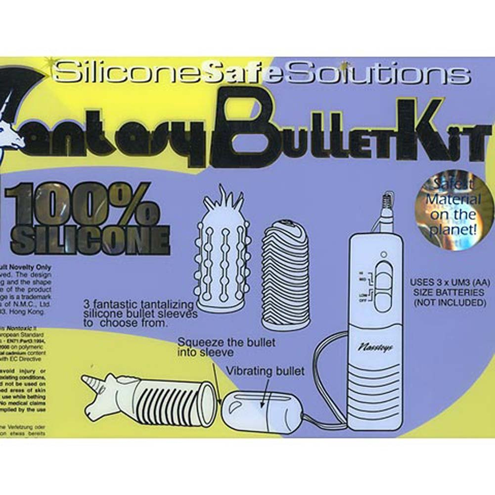 "Fantasy Bullet Kit Silicone Vibrating 2"" - View #3"