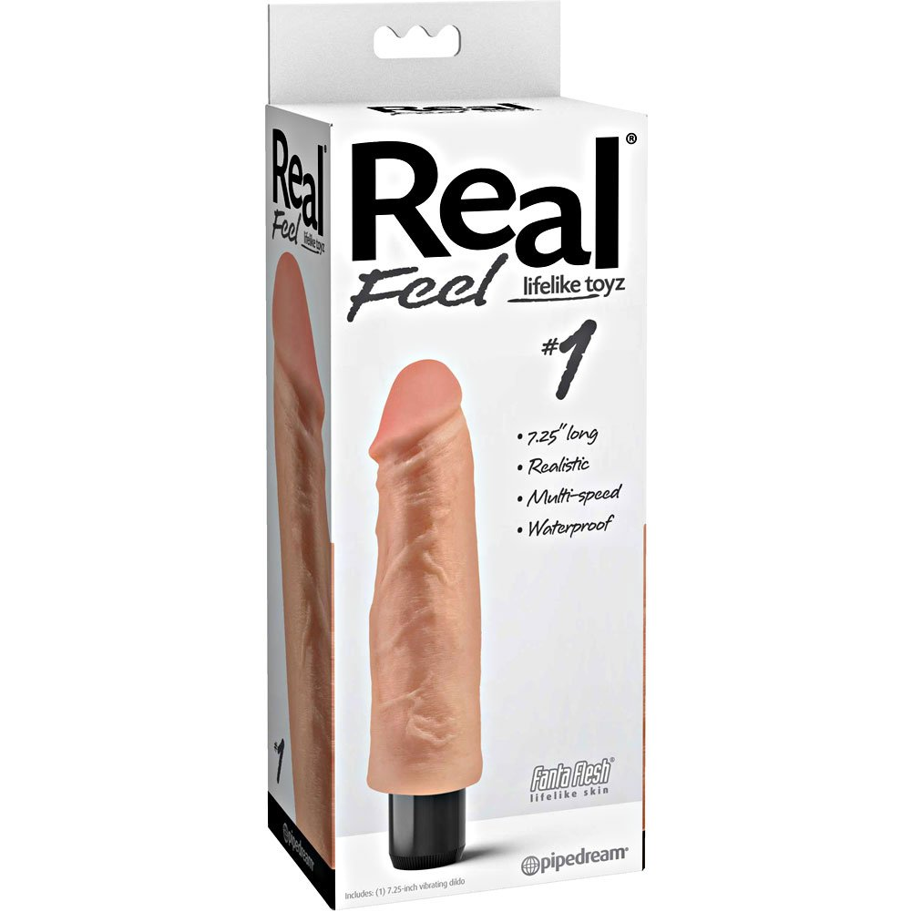 "Extreme Toyz Real Feel Waterproof Vibe 7.5"" Natural - View #1"