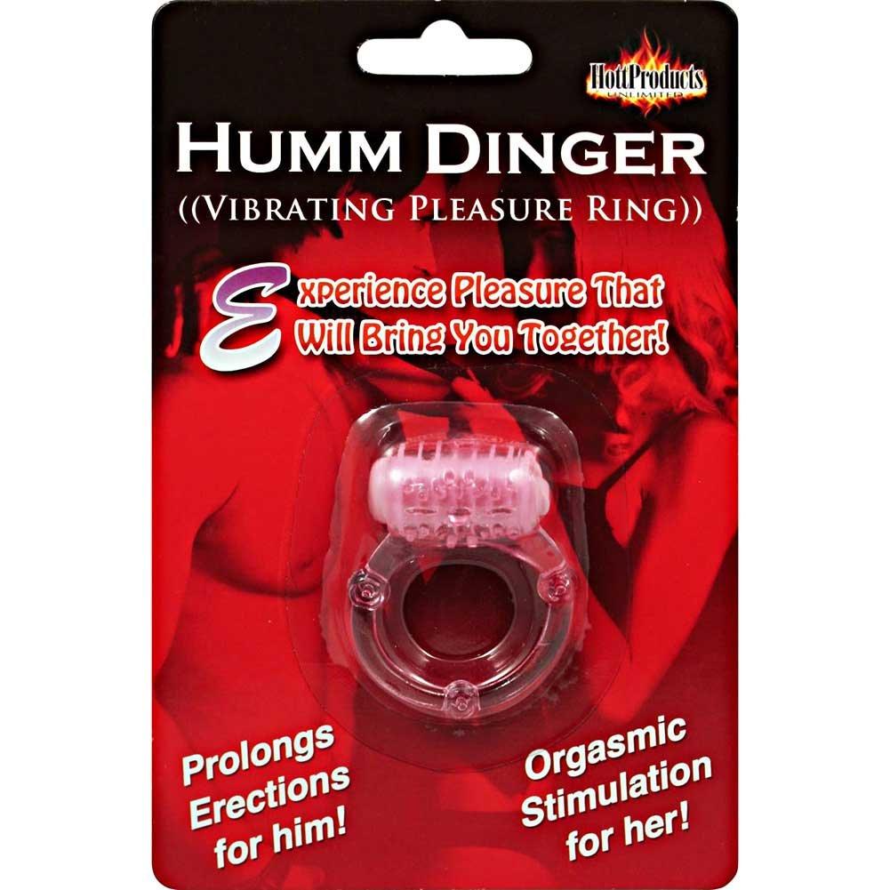Humm Dinger Stretchy Vibrating Cockring Magenta - View #3