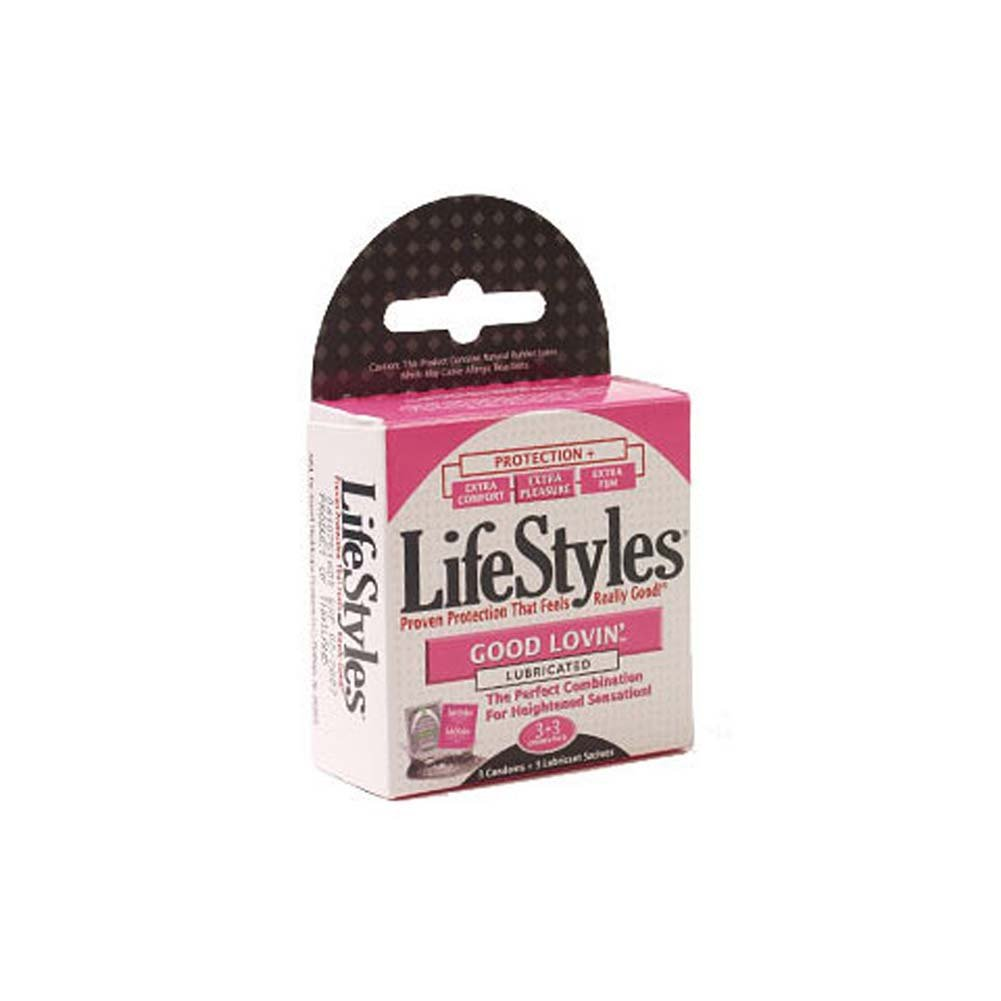 LifeStyles Good Lovin Condoms 3 Pk. - View #1