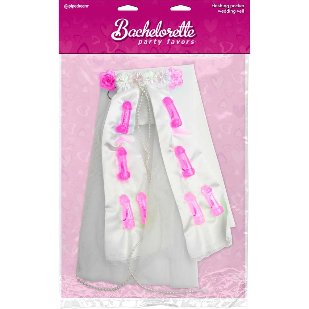 Bachelorette Party Favors Light-Up Pecker Party Veil - View #1