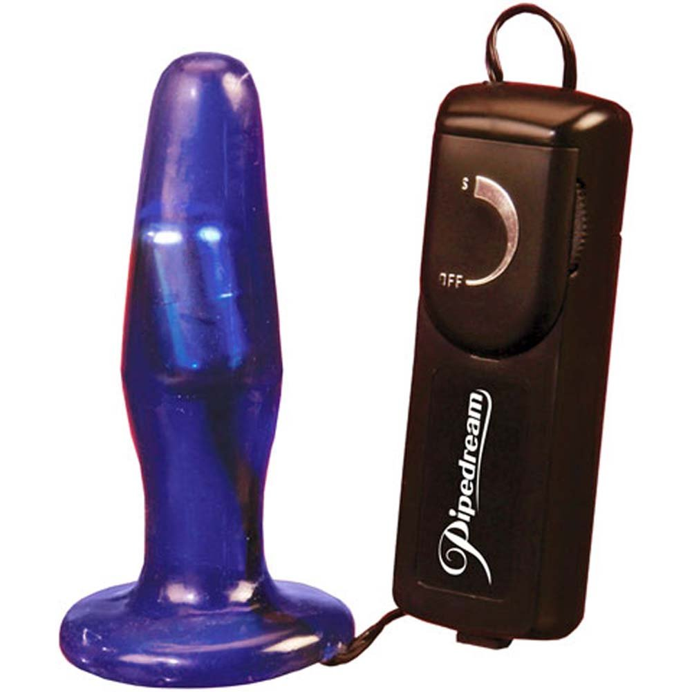 Extreme Toyz Vibrating Jelly Slender Butt Plug 4.25 In. - View #2