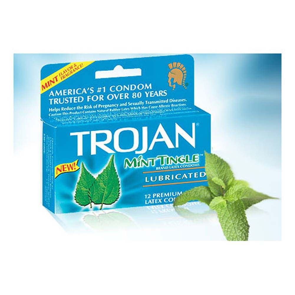 Trojan Mint Tingle Lubricated Condoms 12 Pack - View #1