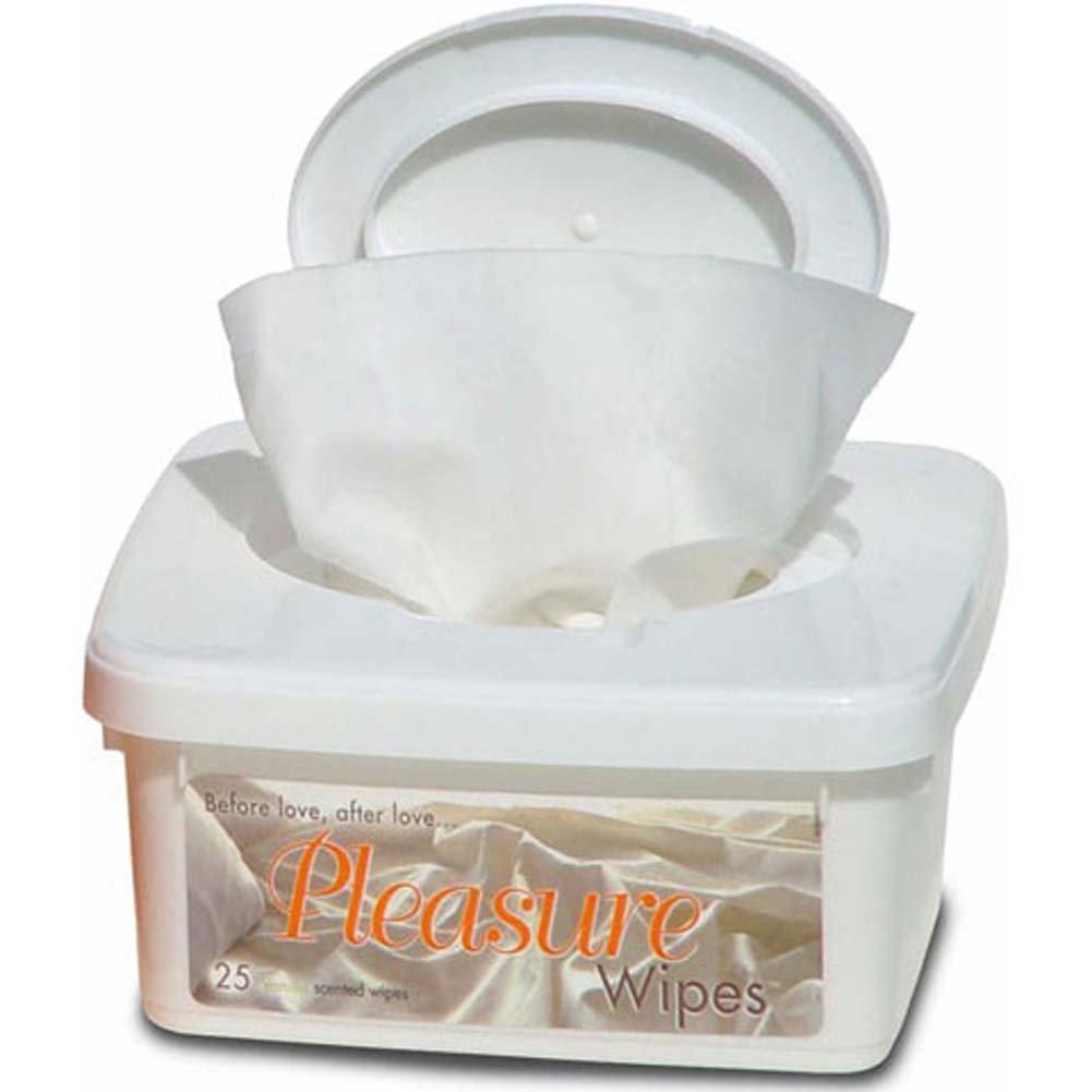 Pleasure Wipes 25 Tub Vanilla - View #1