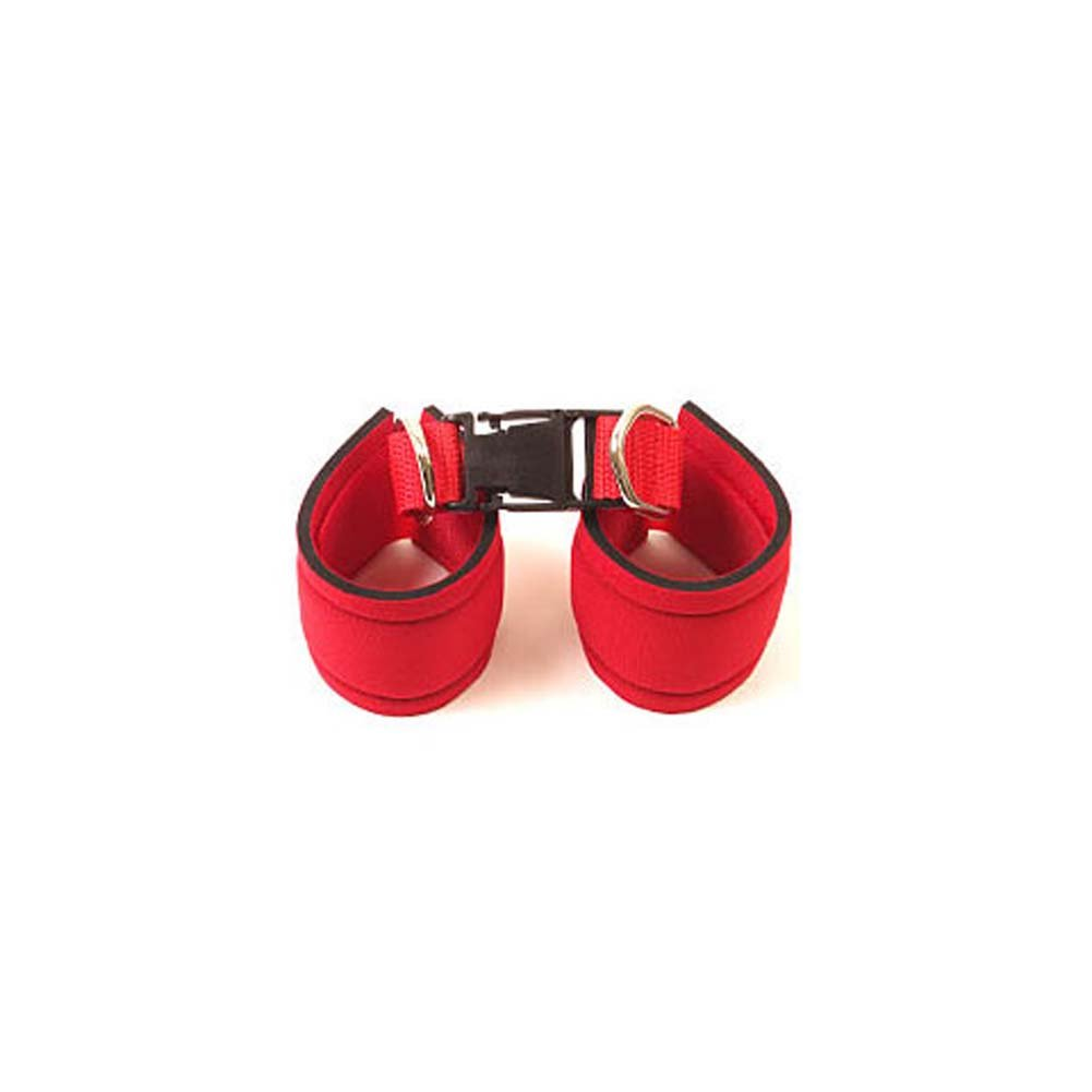 Fetish Wrist And Ankle Cuffs Red - View #1
