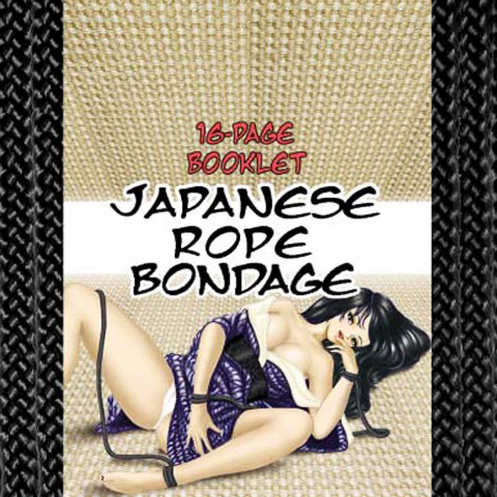 Japanese Silk Love Rope Ankle Cuffs Black - View #2