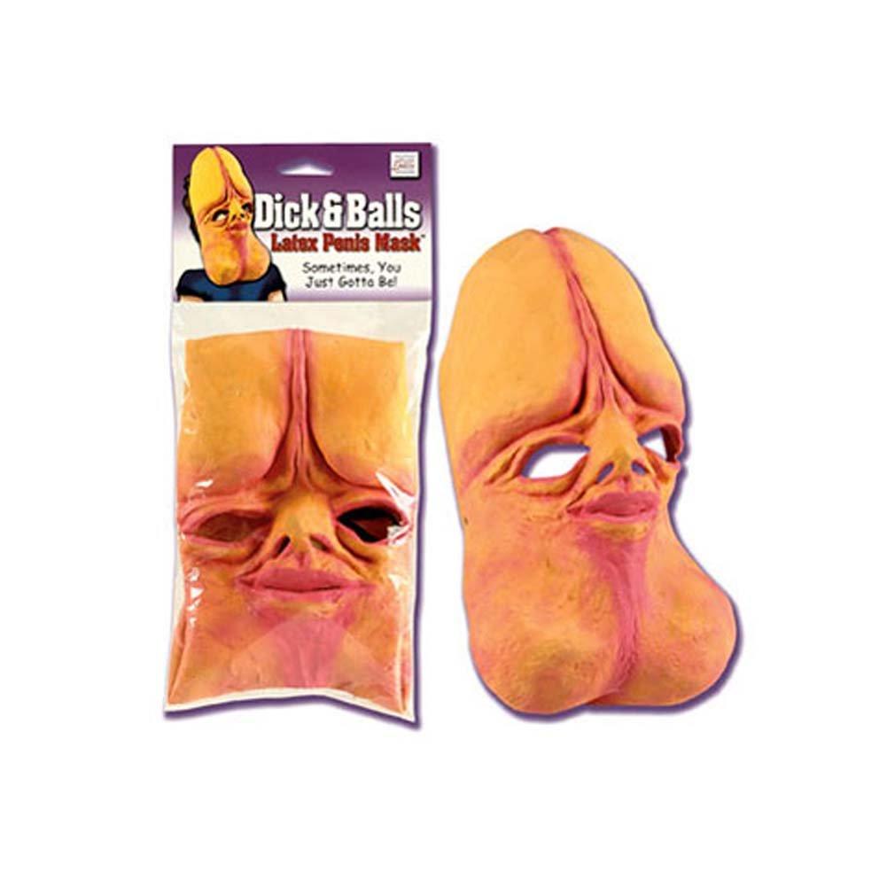 Dick and Balls Latex Penis Mask - View #2