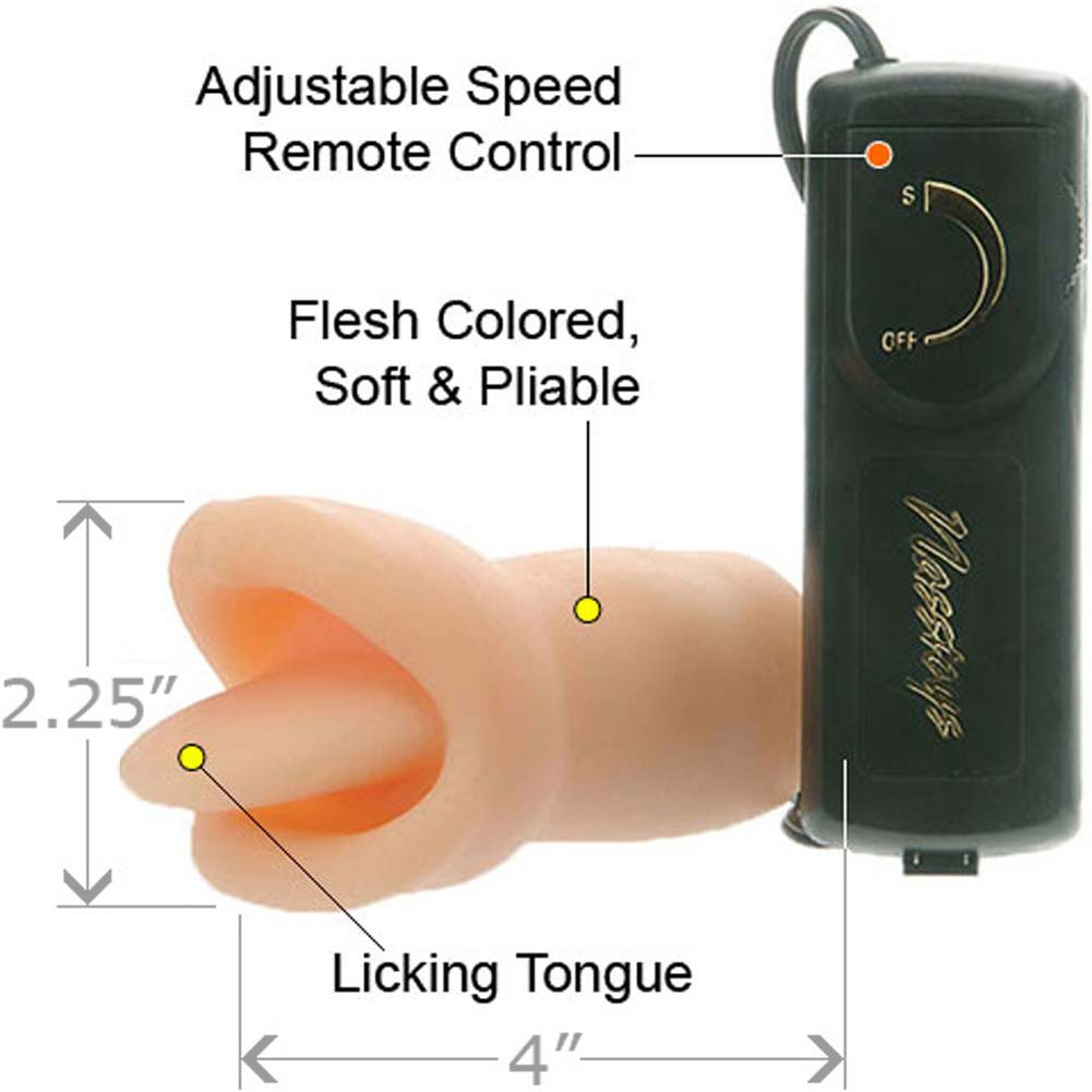 "Velvet Touch Clit Licker Vibe 4"" Natural - View #1"