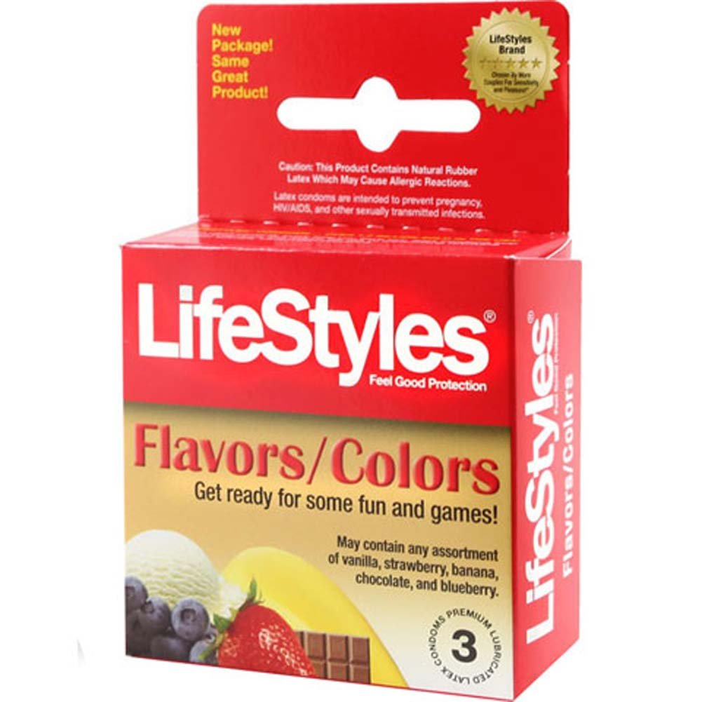 LifeStyles Assorted Flavors Condoms 3 Pack - View #1