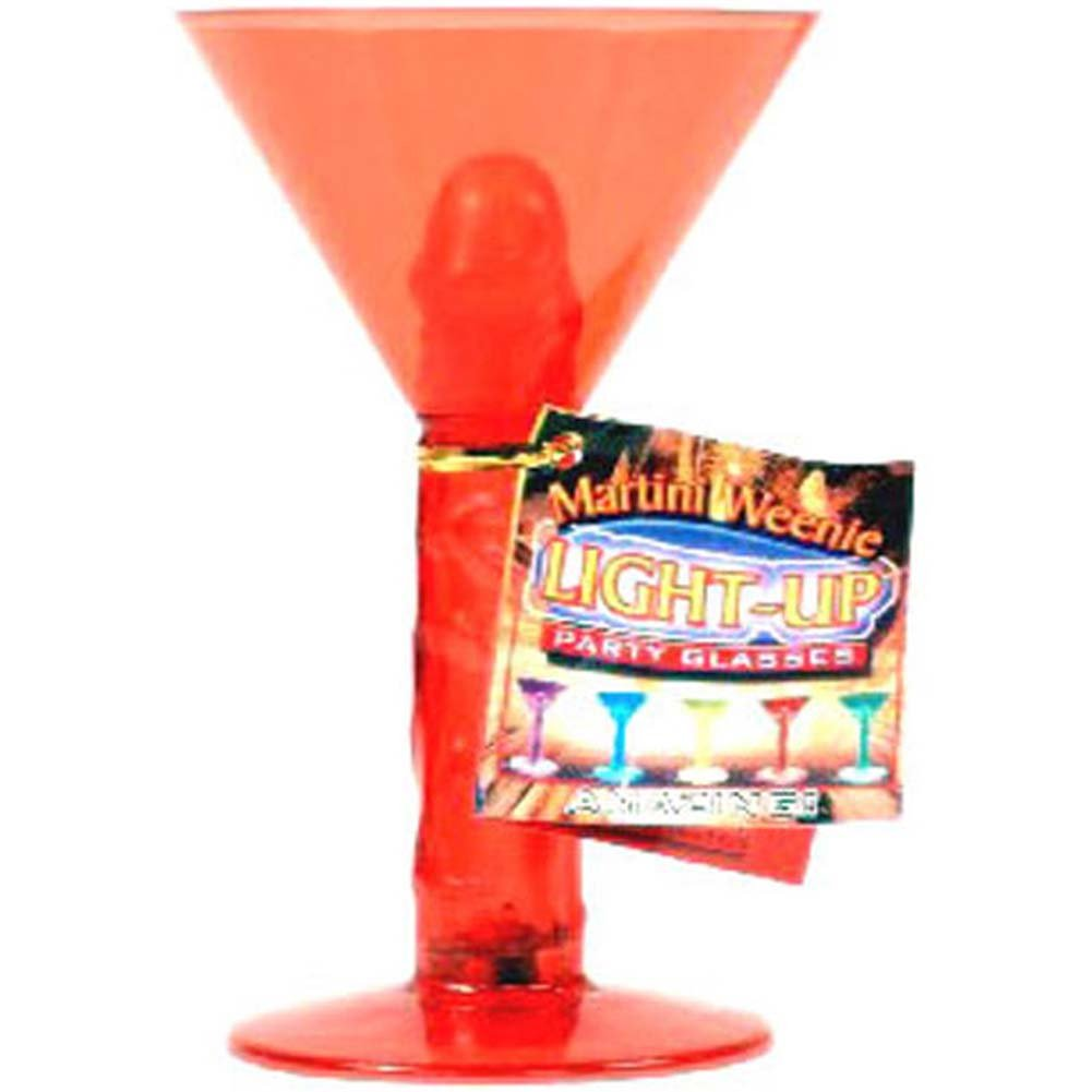Martini Weenie Light Up Party Glass Red - View #1
