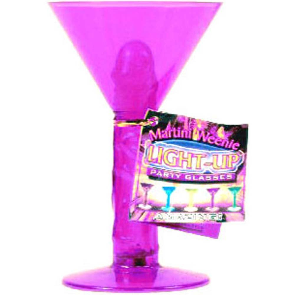 Martini Weenie Light Up Party Glass Purple - View #1