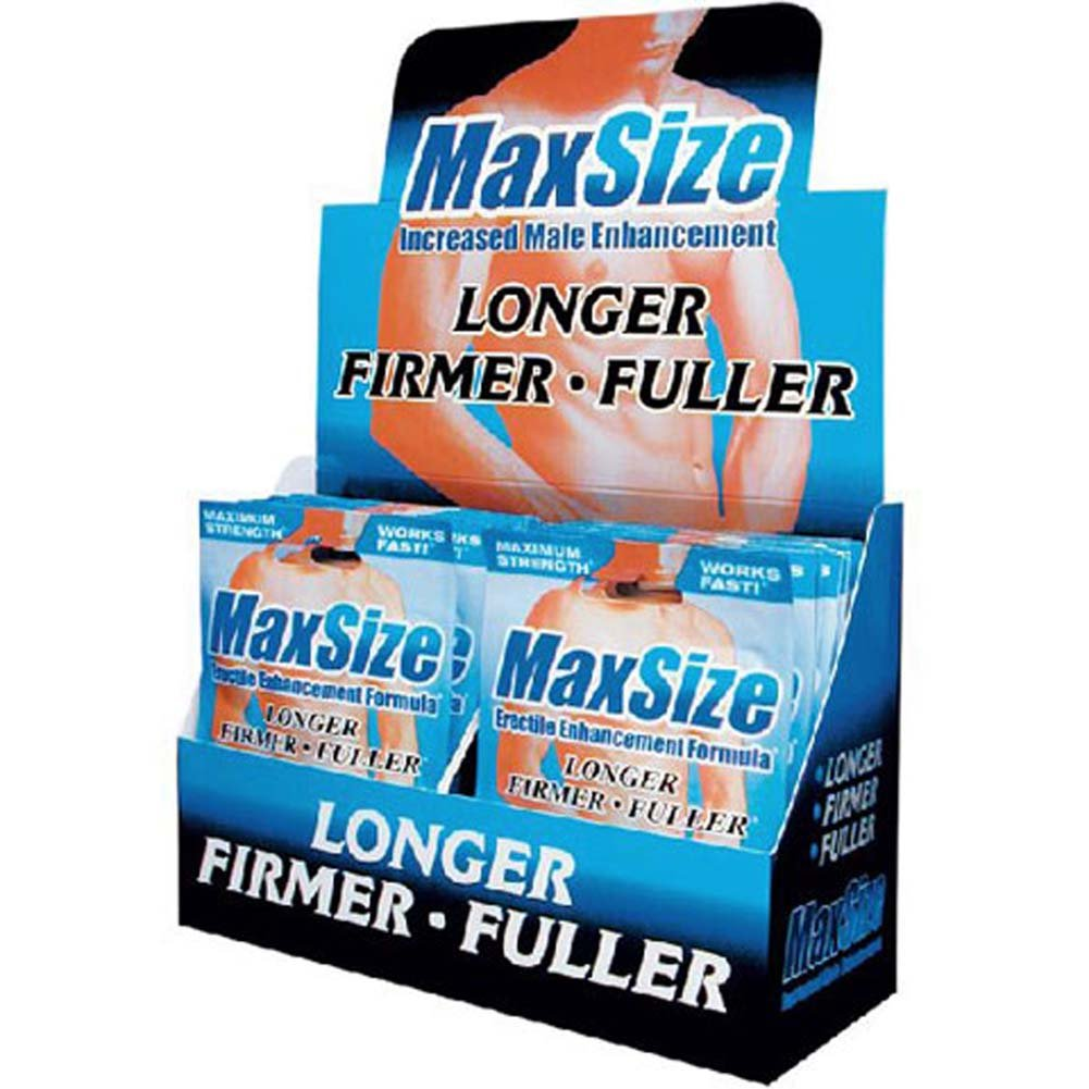 MaxSize Male Enhancement 2 Tabs Counter Display 24 Packets - View #1