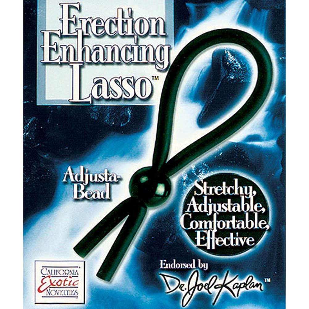 Dr. Joel Kaplan Erection Enhancing Rubber Lasso Ring Black. - View #2