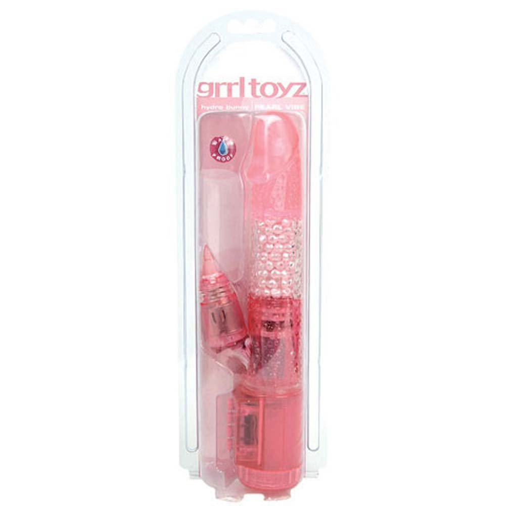 Grrl Toyz Hydro Bunny Pearl Waterproof Vibe 10 in RbDV - View #1