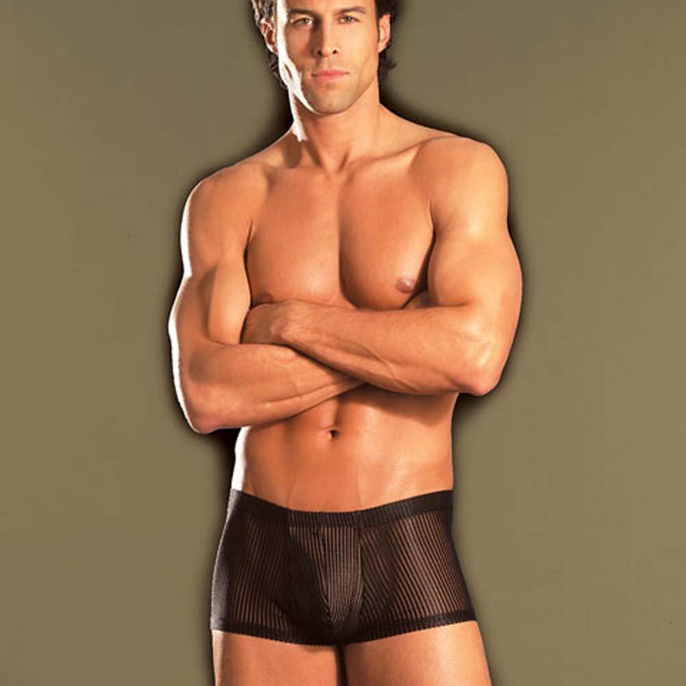 Black Stripe Shorts - View #1