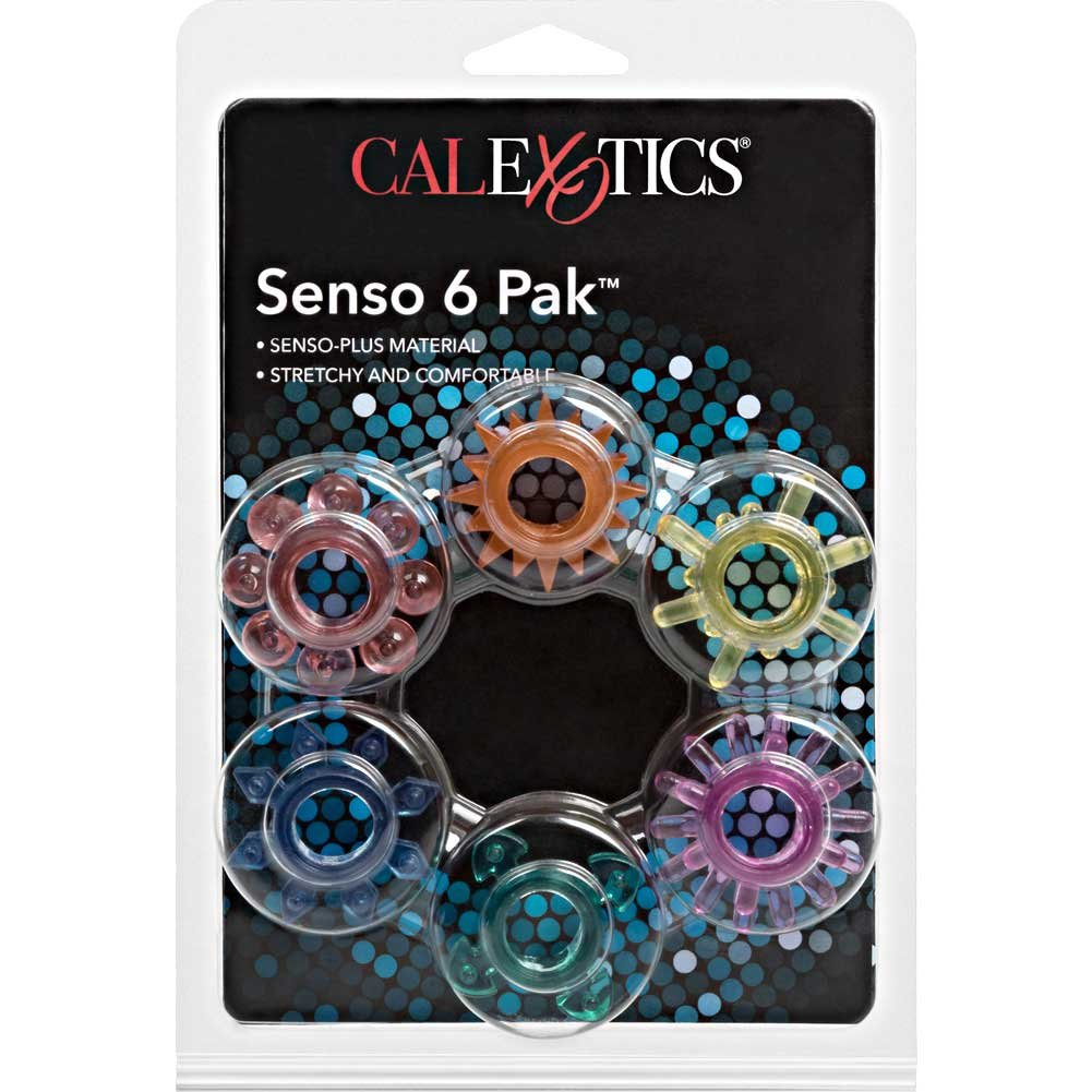Senso 6 Pak Cockrings for Lovers by CalExotics - View #4
