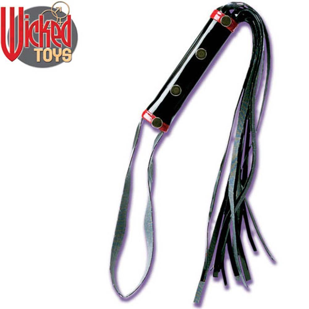 Wicked Gear Patent Leather Whip - View #2