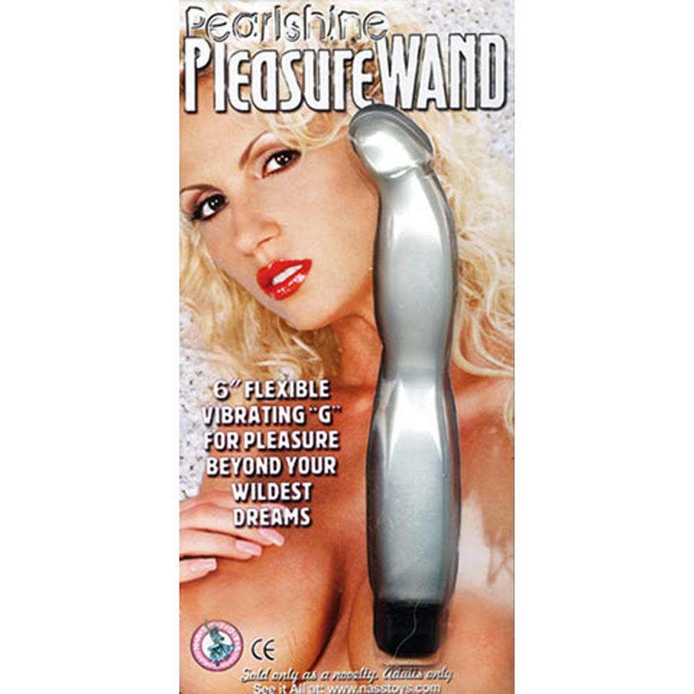 "Pearl Shine Pleasure Wand G-Spot Vibe 6"" White - View #2"