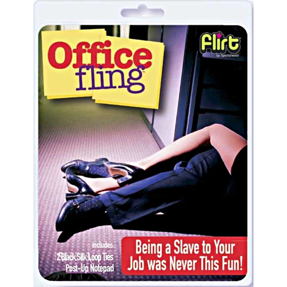 Sportsheets Flirt Office Fling Kit with Silk Ties Black - View #1