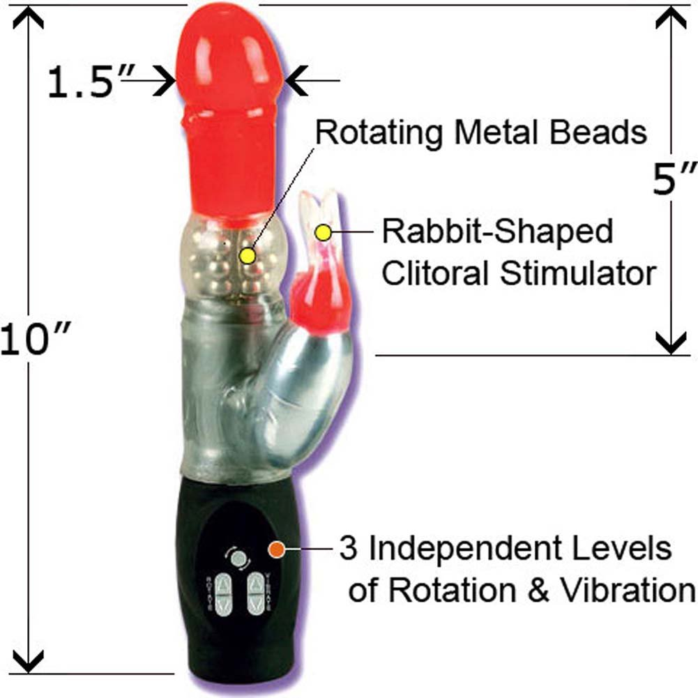 "Rechargeable Jack Rabbit Vibe 10"" Red - View #1"