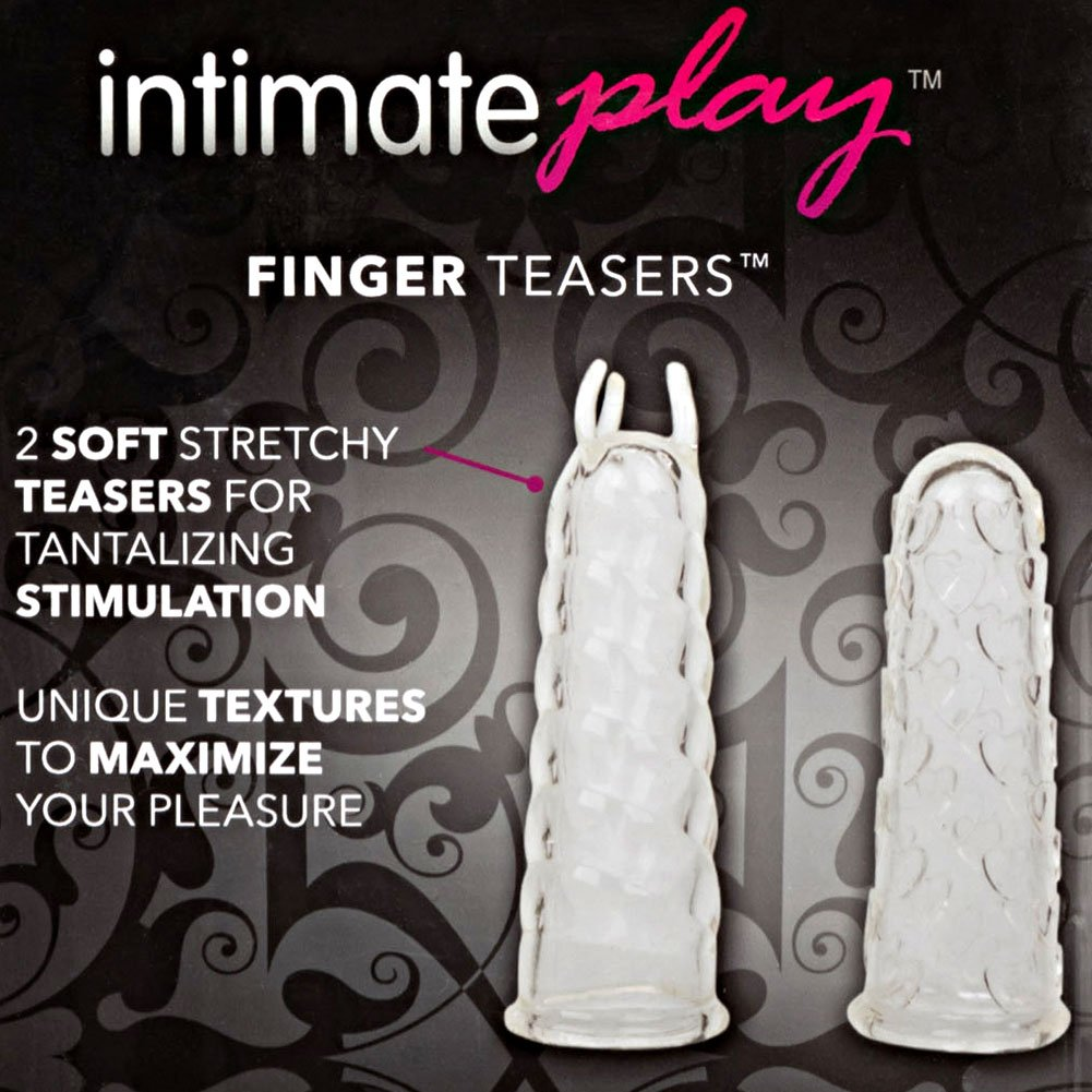 "Silicone Finger Teasers Set 3"" Clear - View #1"