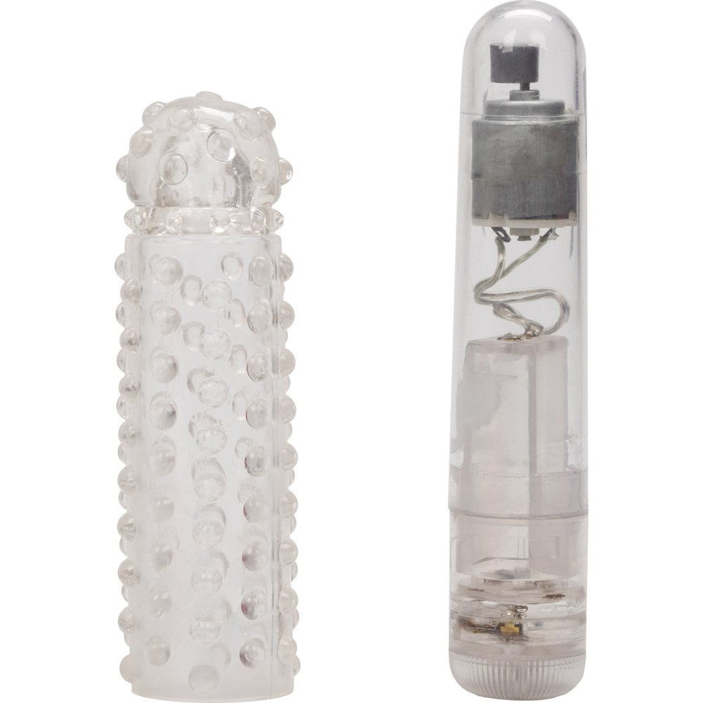 "California Exotics Waterproof Silicone Softees Vibe 4.5"" Clear - View #3"