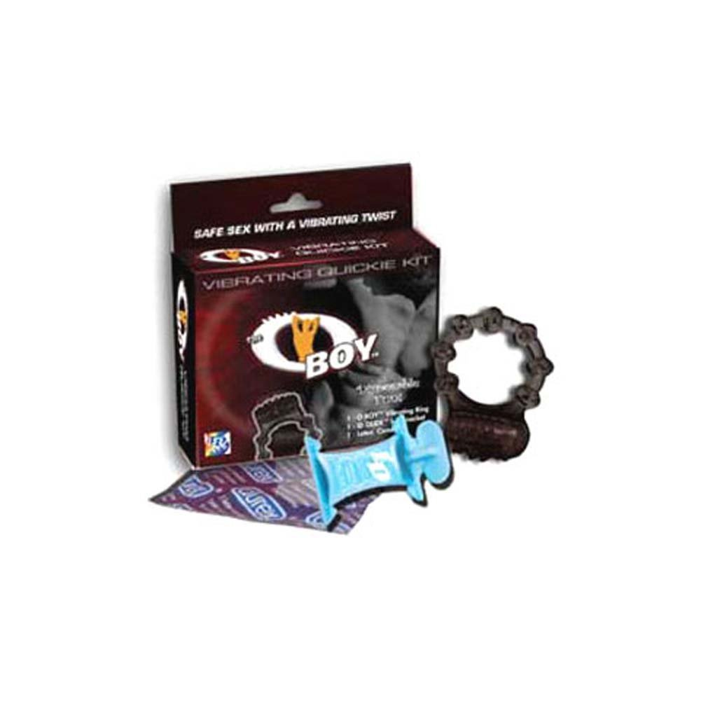 O Boy Vibrating Quickie Silicone Cockring Kit - View #1