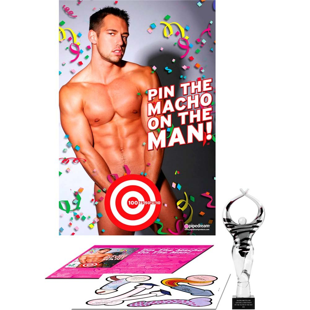 Party Favors Pin the Macho On the Man - View #1