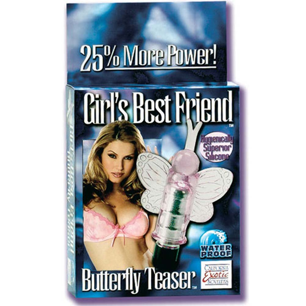 Girls Best Friend Waterproof Silicone Butterfly Teaser 3 In. - View #1