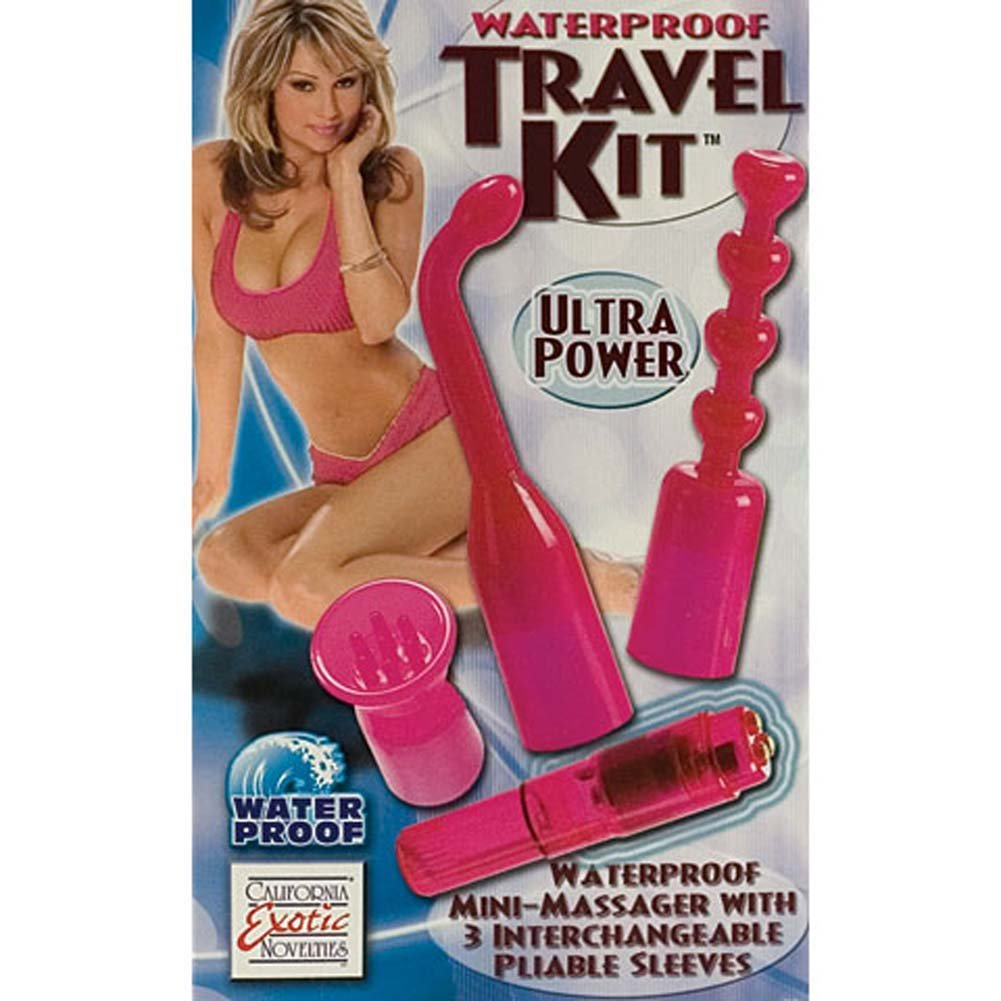 "Waterproof Travel Kit with G-Spot Mini Vibe 4"" Pink - View #3"