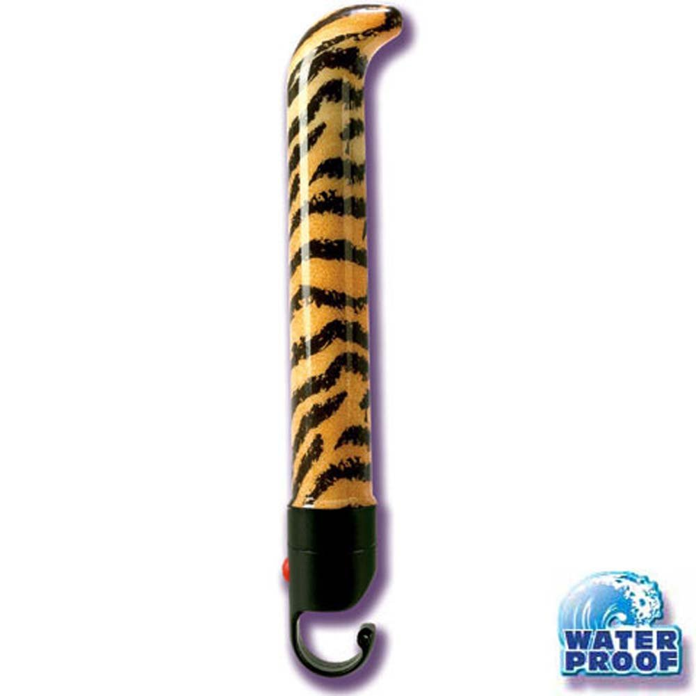 Waterproof Jungle G Tiger Vibrator 6 In. - View #2
